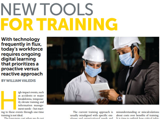 New tools for Training
